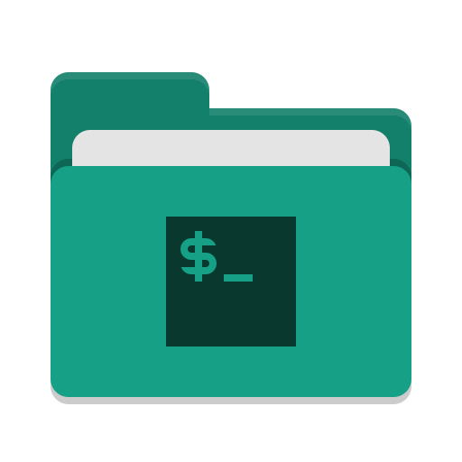 Folder teal script icon