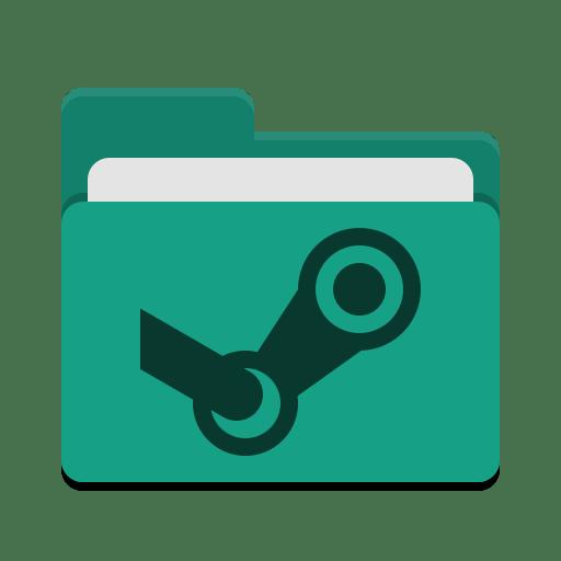 Folder-teal-steam icon