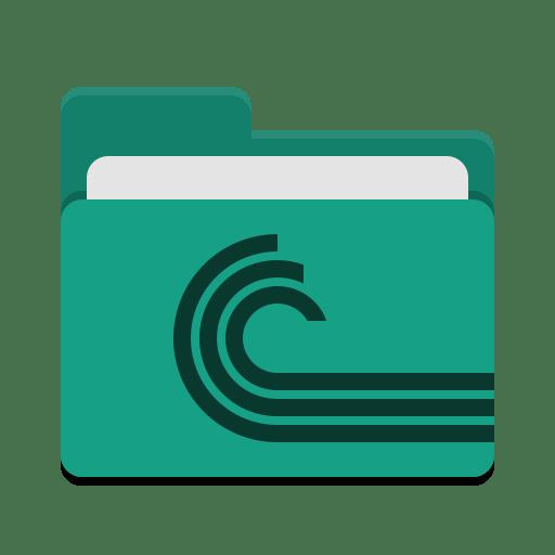 Folder-teal-torrent icon