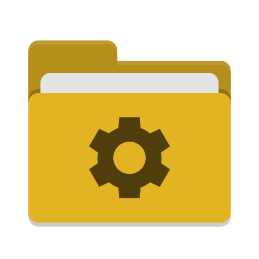 Folder-yellow-development icon