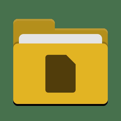 Folder-yellow-documents icon