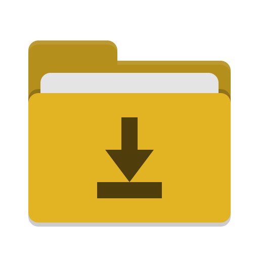 Folder-yellow-download icon