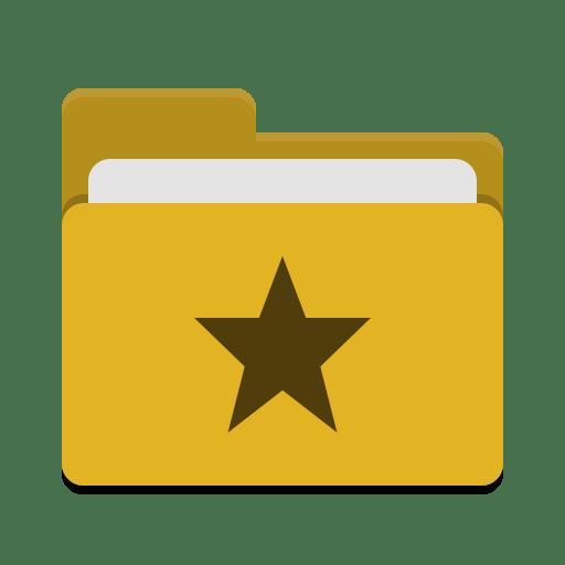 Folder-yellow-favorites icon