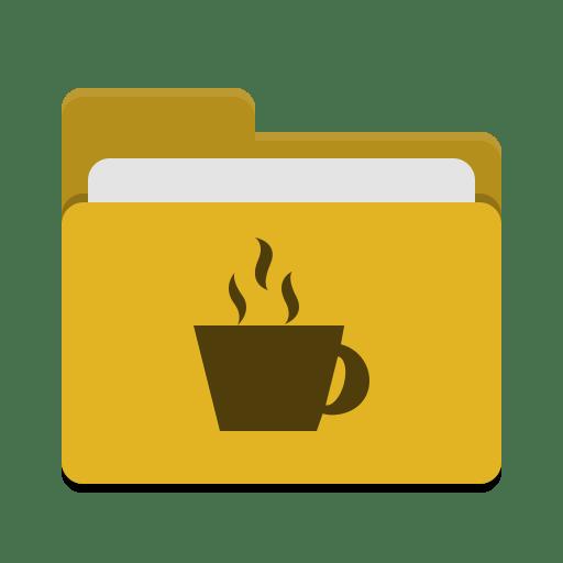 Folder-yellow-java icon