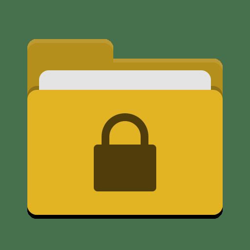 Folder-yellow-locked icon
