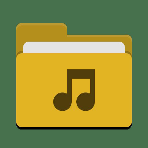 Folder-yellow-music icon