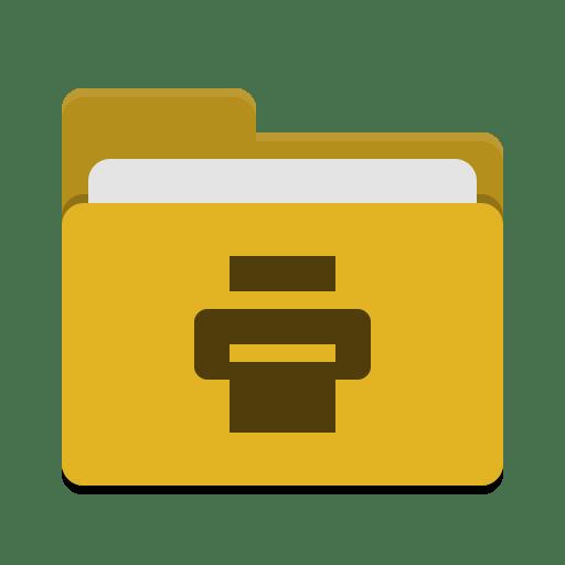 Folder-yellow-print icon