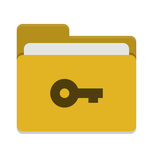 Folder yellow private icon
