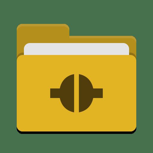 Folder-yellow-remote icon
