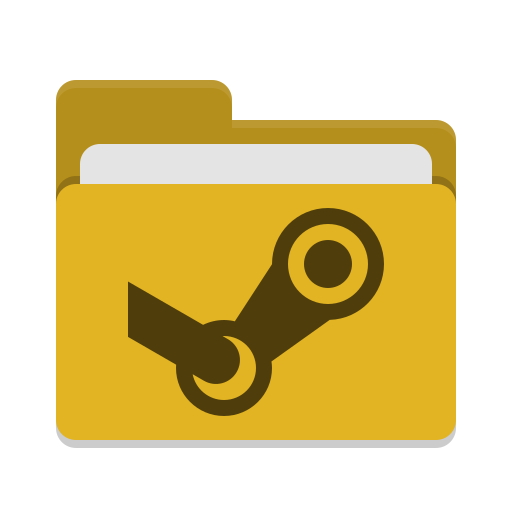 Folder-yellow-steam icon