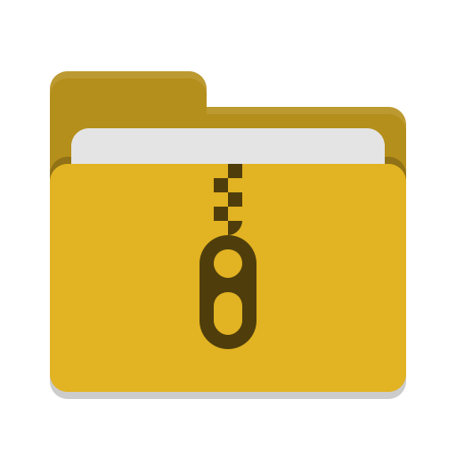 Folder-yellow-tar icon