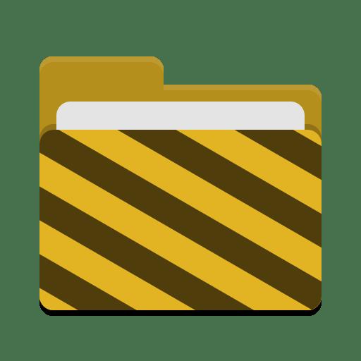 Folder yellow visiting icon