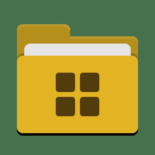 Folder-yellow-wine icon