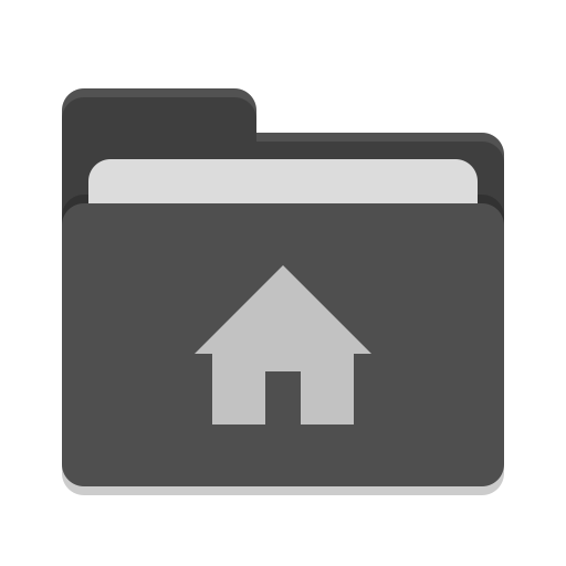User black home icon