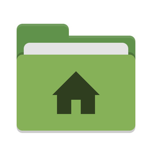 User-green-home icon