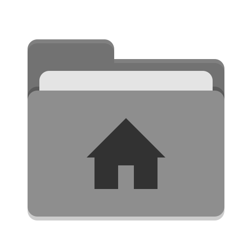 User grey home icon