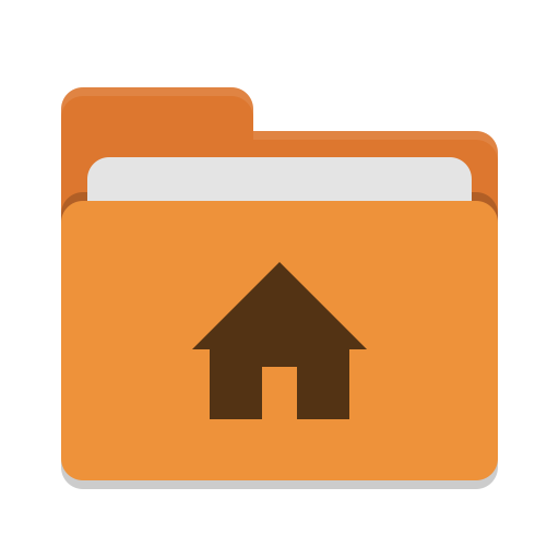 User orange home icon