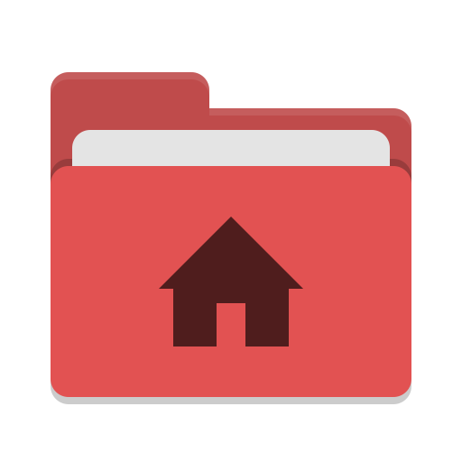 User-red-home icon
