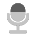 Notification microphone sensitivity medium icon