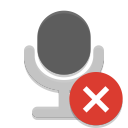Notification microphone sensitivity muted icon