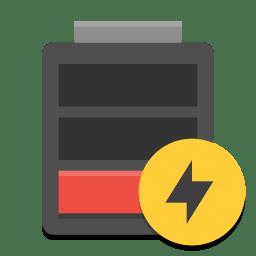 Battery Empty Charging Icon Papirus Status Iconset Papirus Development Team