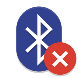 Bluetooth disabled icon