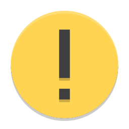 Dialog warning icon