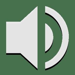 Notification audio volume high icon
