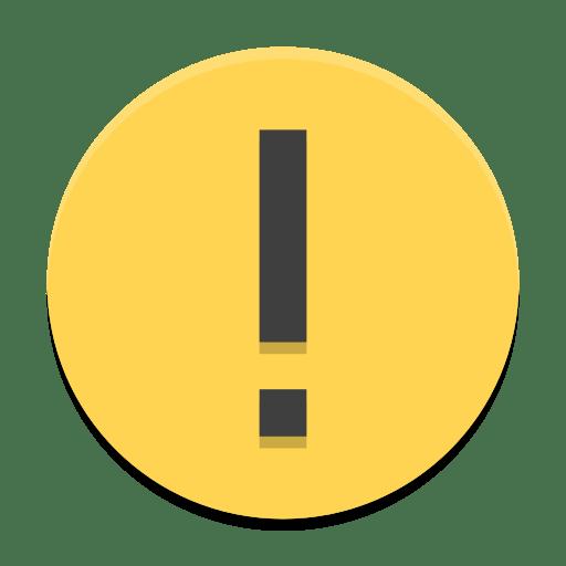 Dialog-warning icon