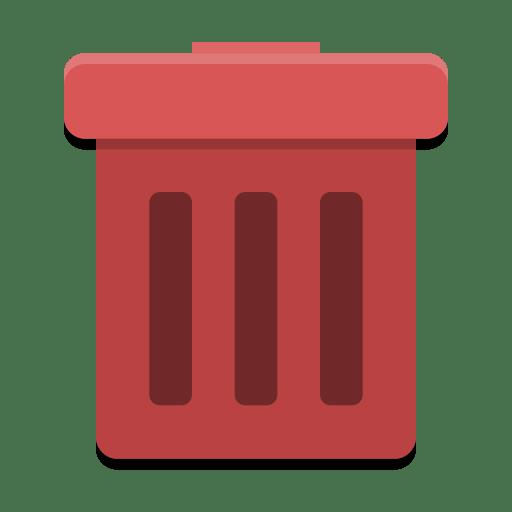 User-trash-full icon
