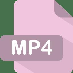 Mp4 Icon Flat File Type Iconset Pelfusion
