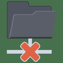 Network Folder Cross icon