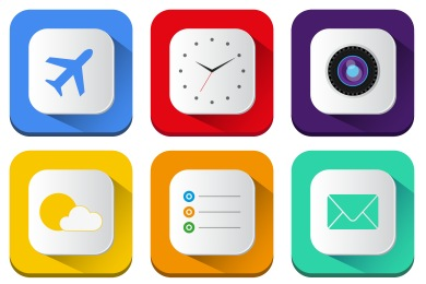 Long Shadow iOS7 Icons