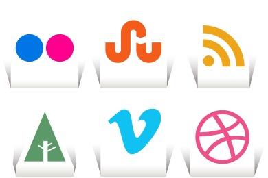 Paper Cut Social Icons