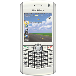 BlackBerry Pearl white icon