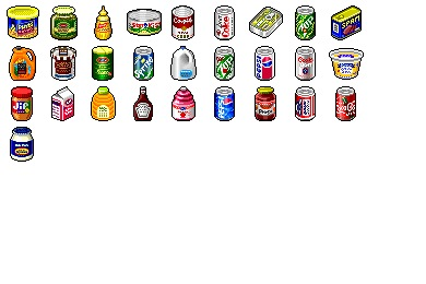 Hide's Grocery Icons