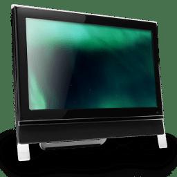 Computer Dark Green icon