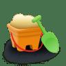 Sand-bucket icon