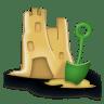 Sand-castle icon
