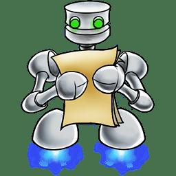 Robot documents icon