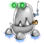 Robot trash icon