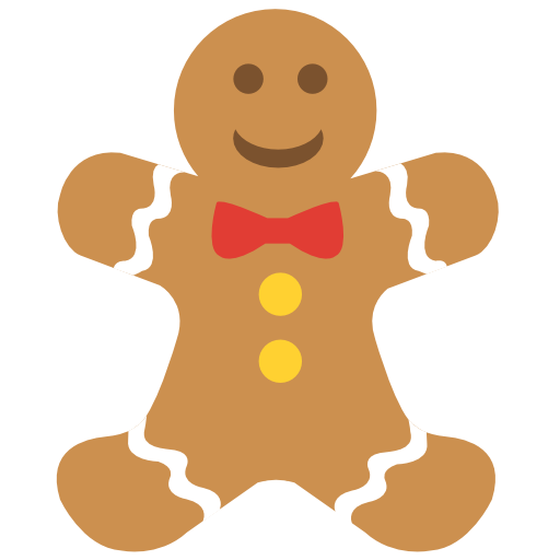 Gingerbread-man-cookie icon