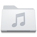 Folder Music White icon