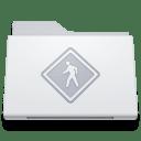 Folder Public White icon