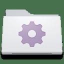 Folder Smart White icon