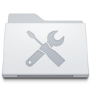 Folder Utilities White icon