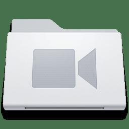 Folder Movies White icon