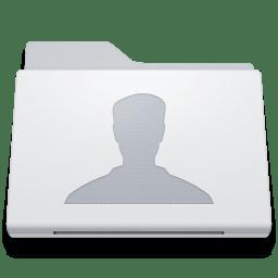 Folder Users White icon