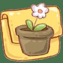 Hp folder flowerpot icon