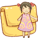 Hp folder girl icon